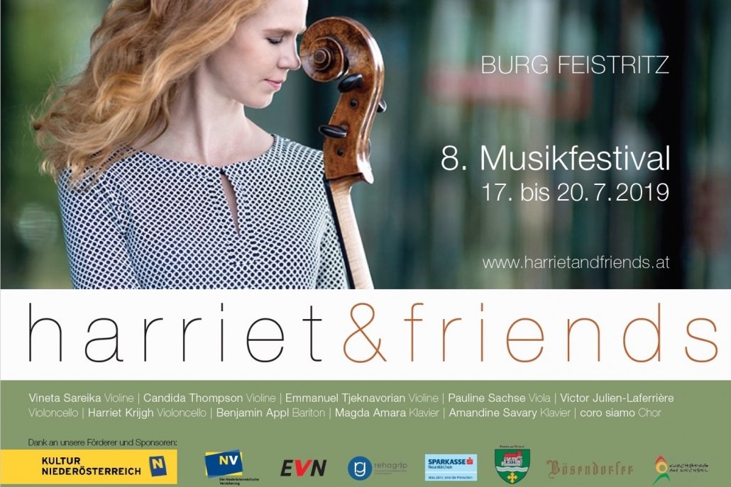 Exciting summer to come! - Amandine will be joining great musicians at Harriet&friends, Burg Feistritz in July.