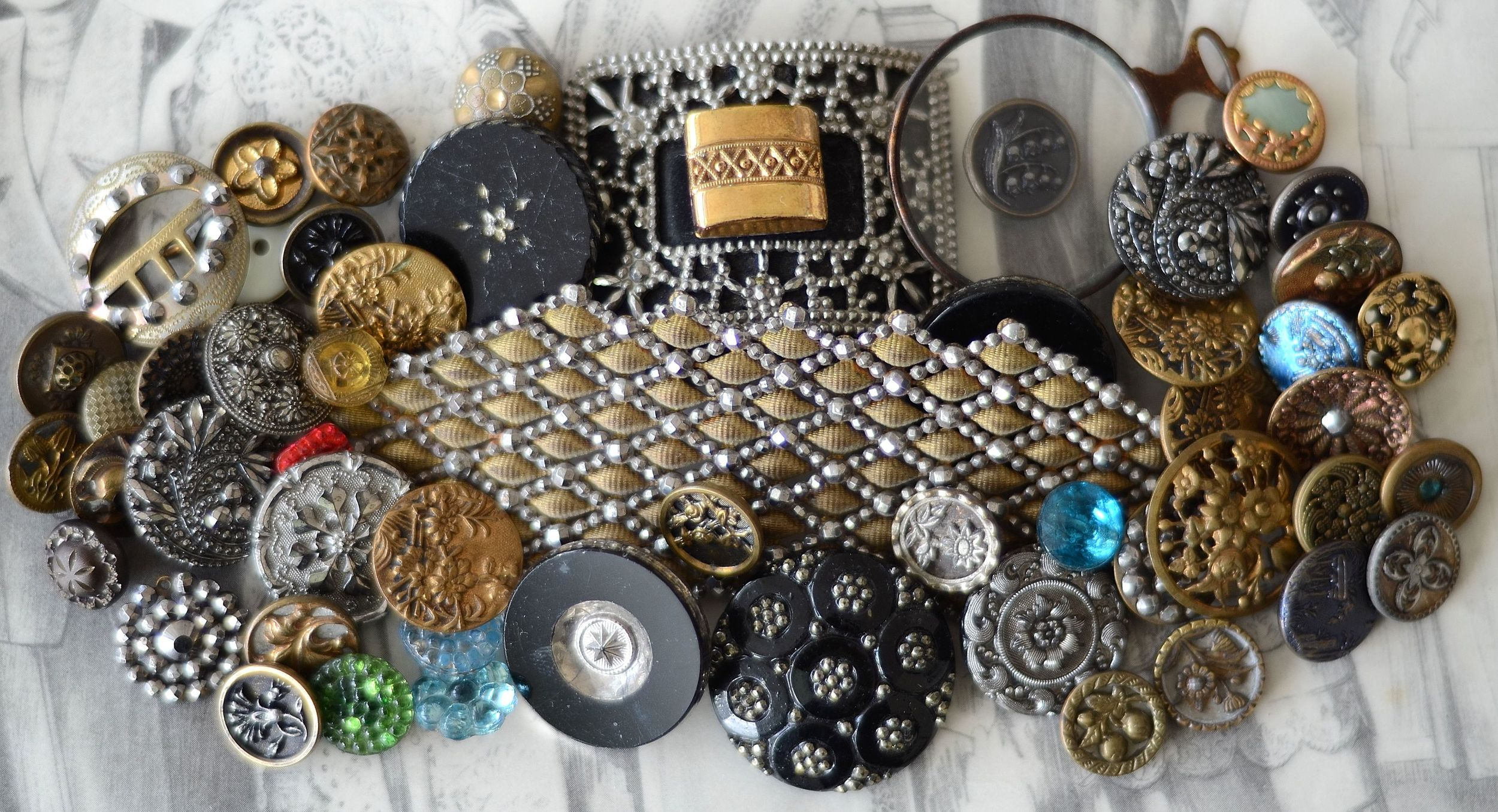 At MRS Designs, we use beautiful vintage buttons in almost all of our products