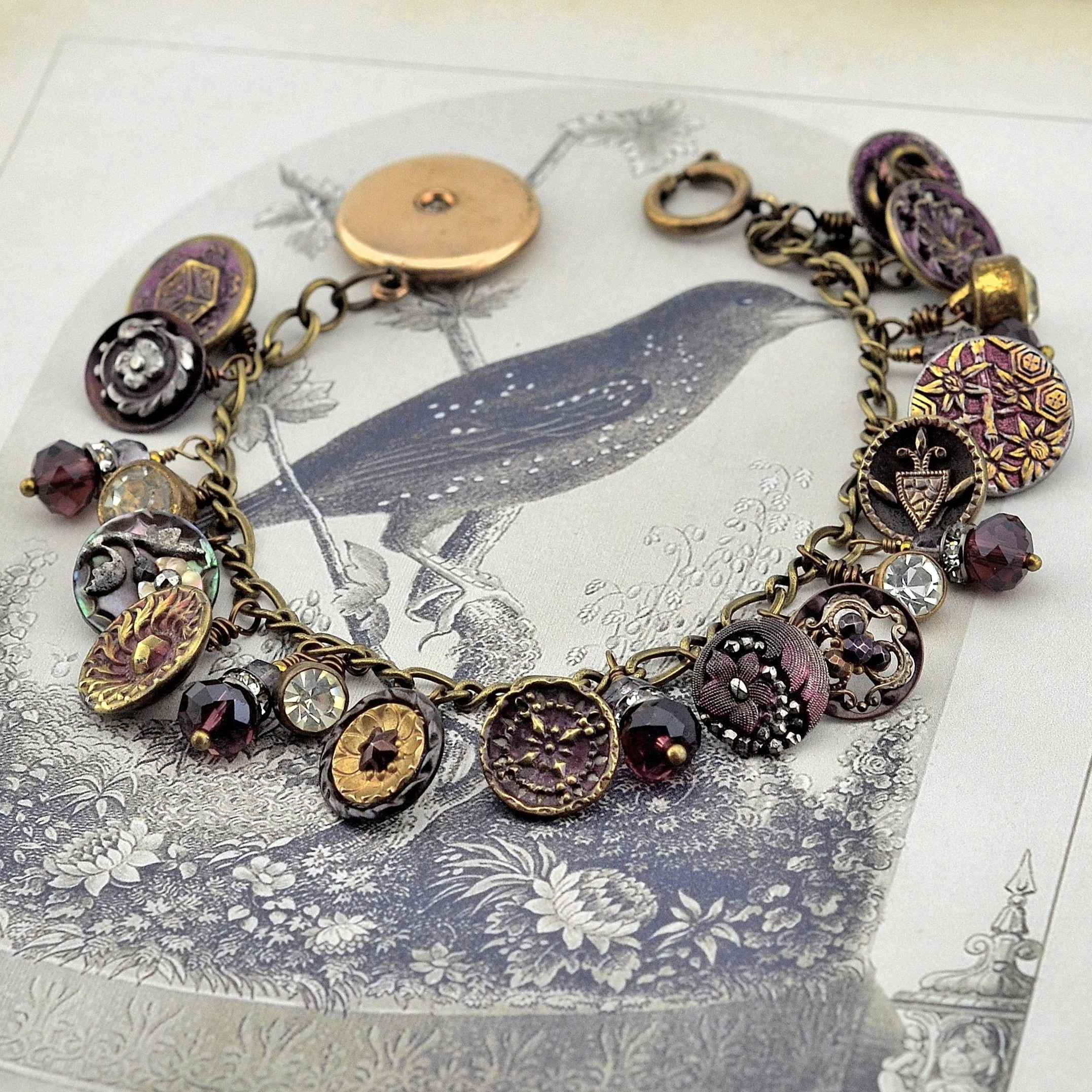Perfect Plum Rhinestone Bracelet