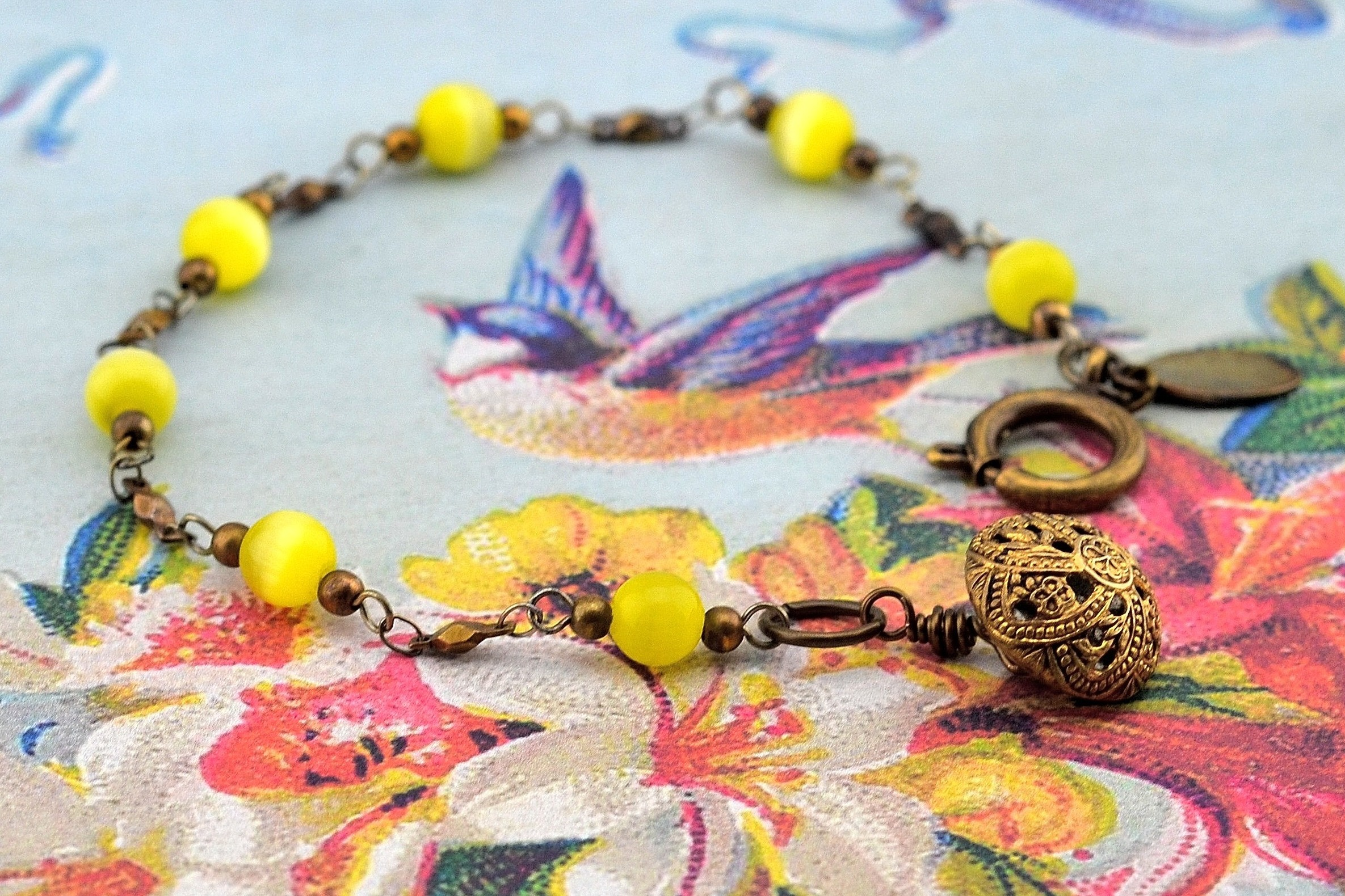 Yellow Cat's Eye Bracelet