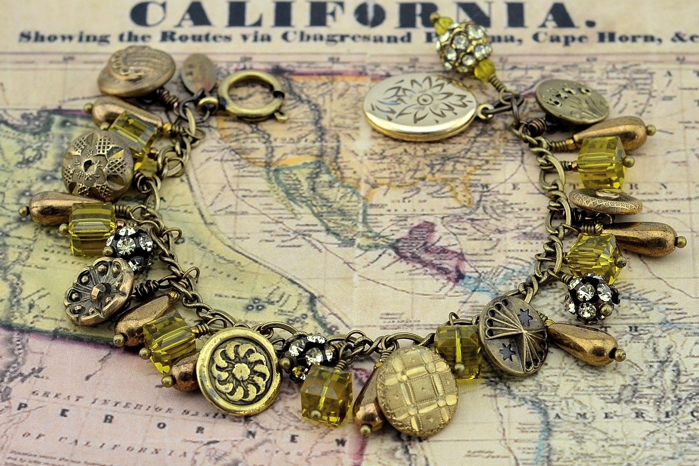 Gold Rush Button Bracelet