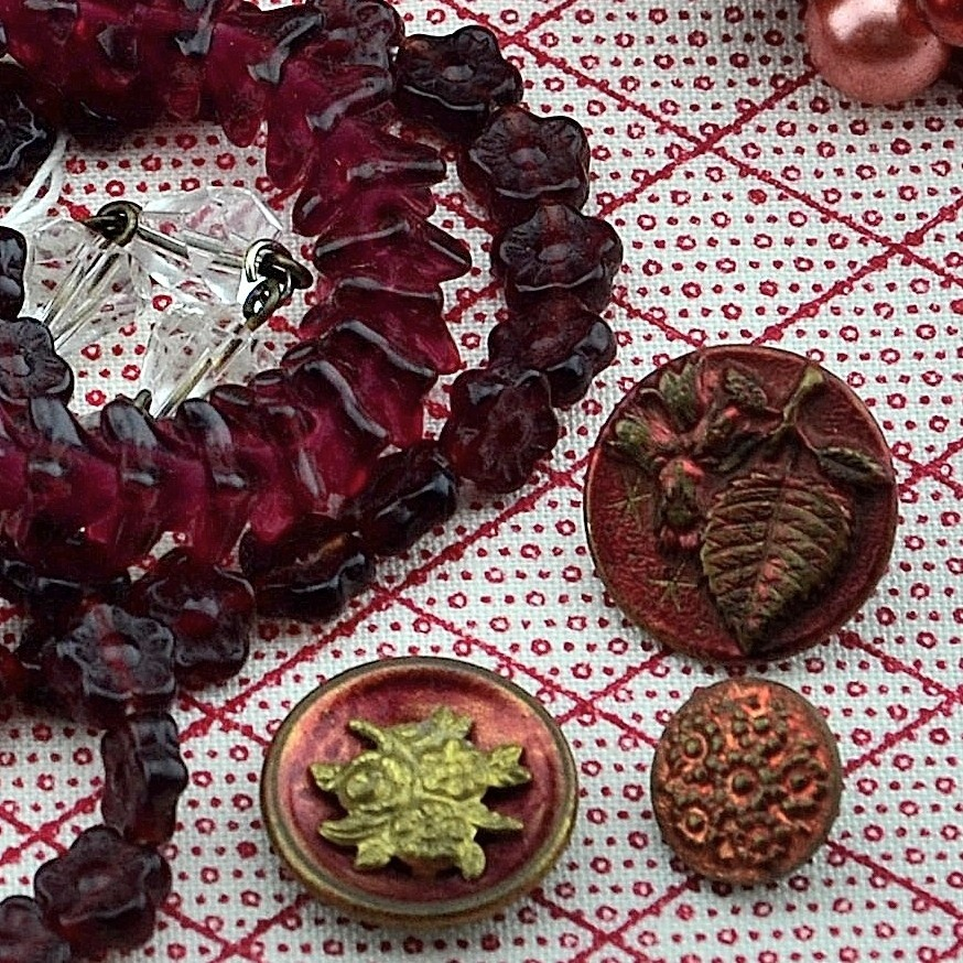 Red Inspiration Board at MRS Designs - Beads and Buttons.JPG