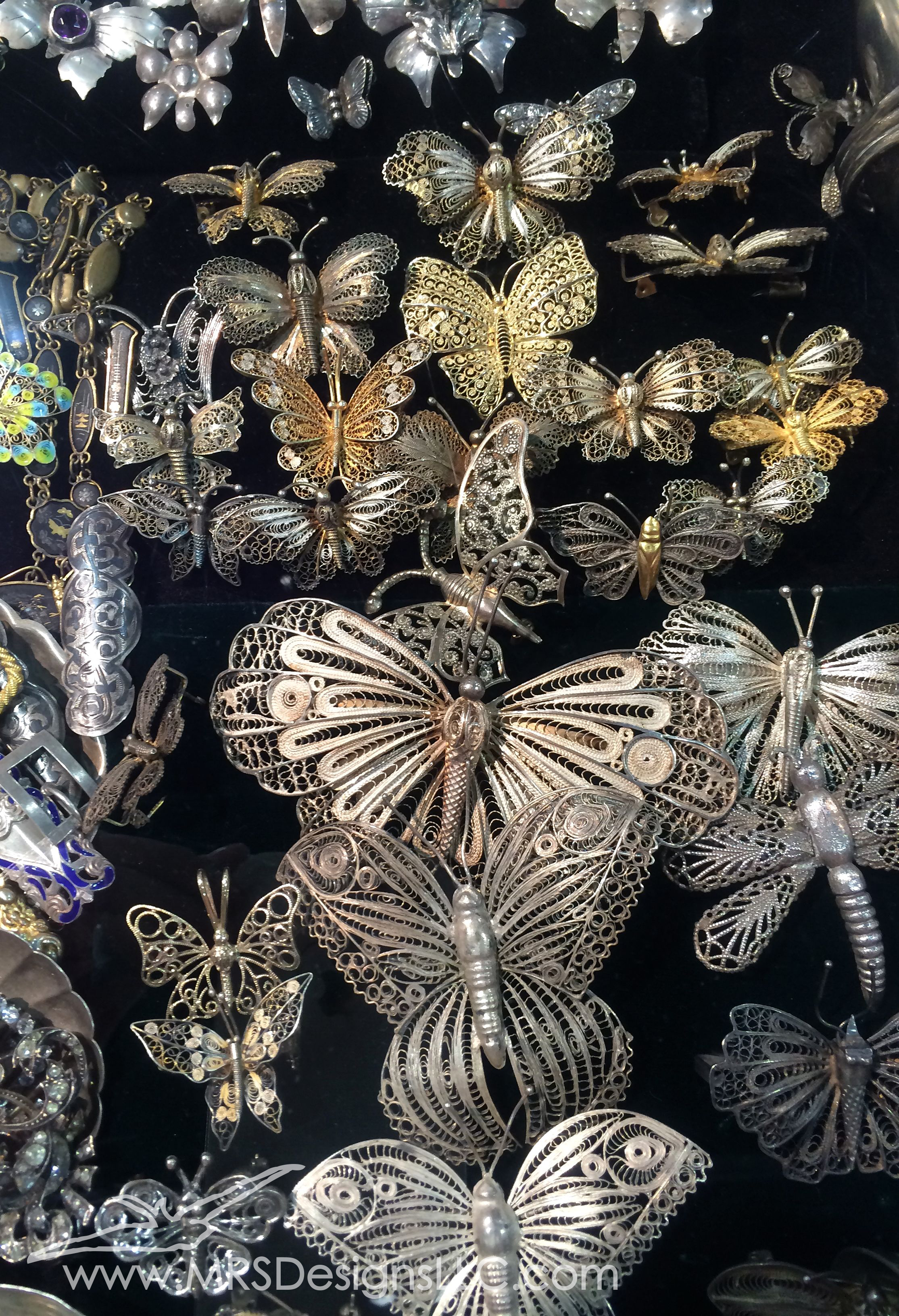 MRS Designs Vintage Butterfly Brooches at Bead and Button Show