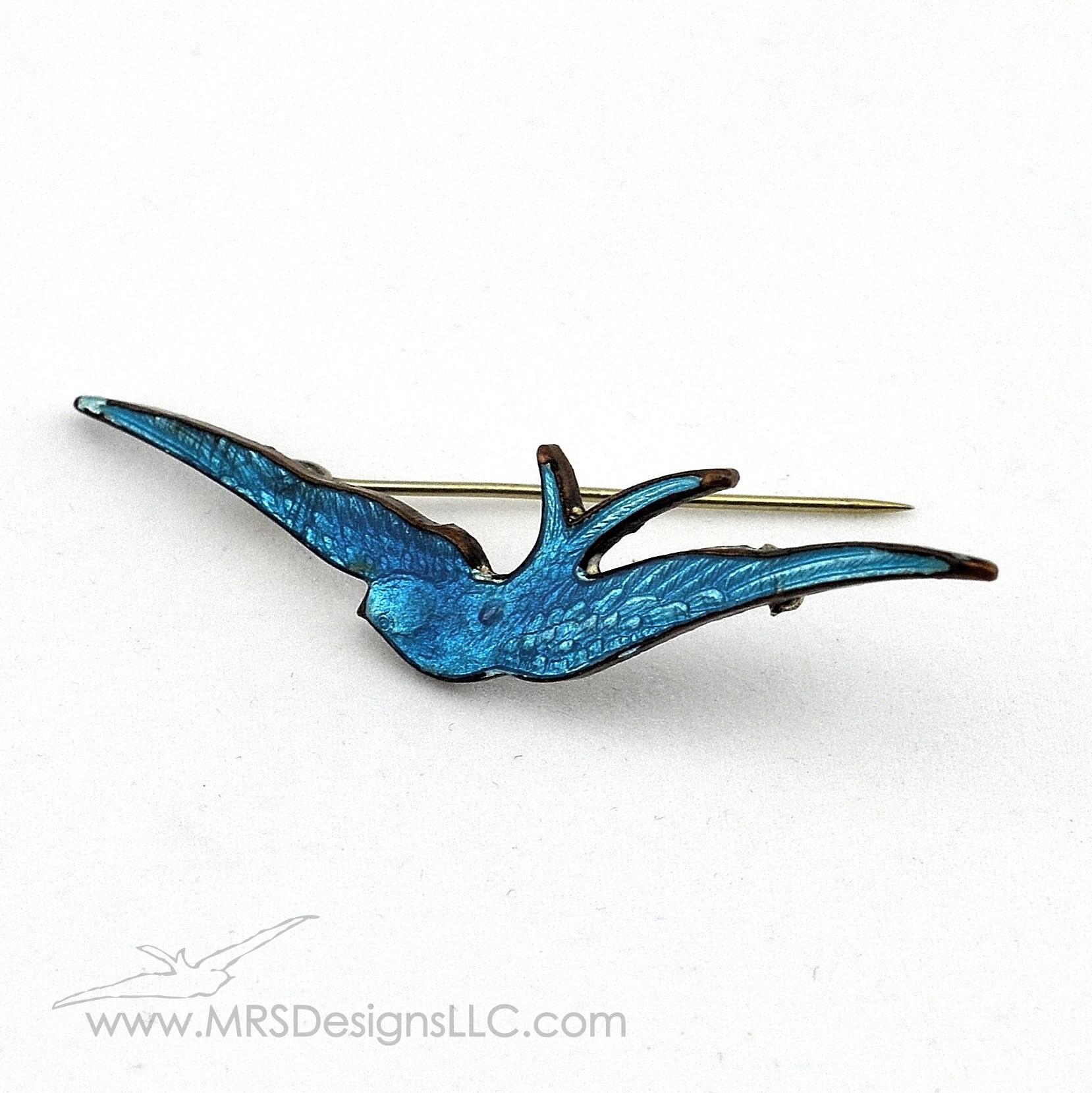 MRS Designs Blog - Vintage Blue Bird Brooch Logo Inspiration.jpg