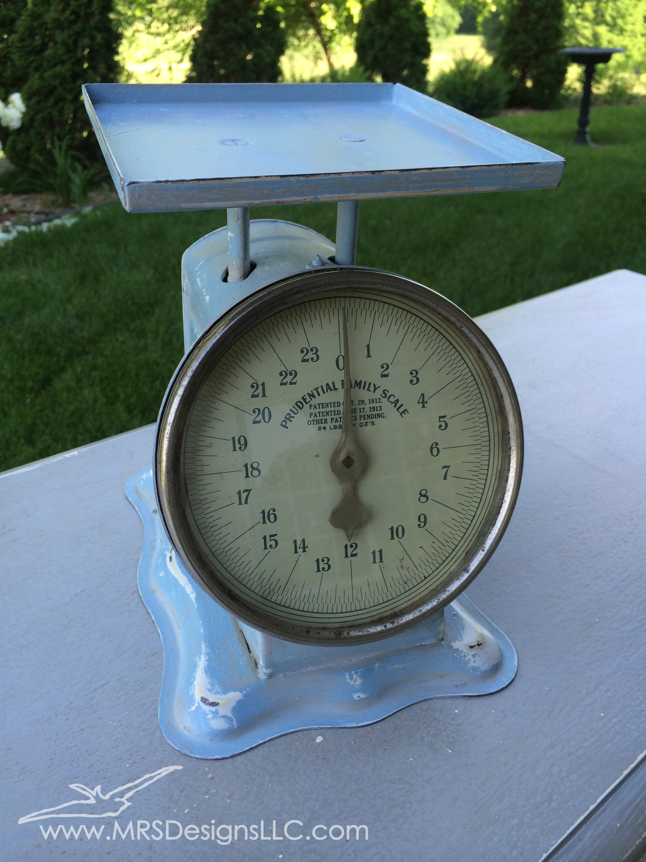 MRS Designs Blog - Refinishing a Vintage Scale, Final Product
