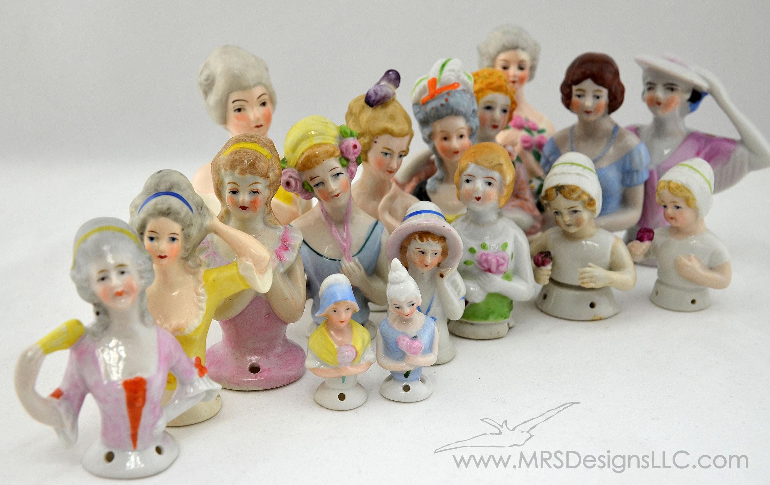 MRS Designs Blog - Vintage Half Dolls
