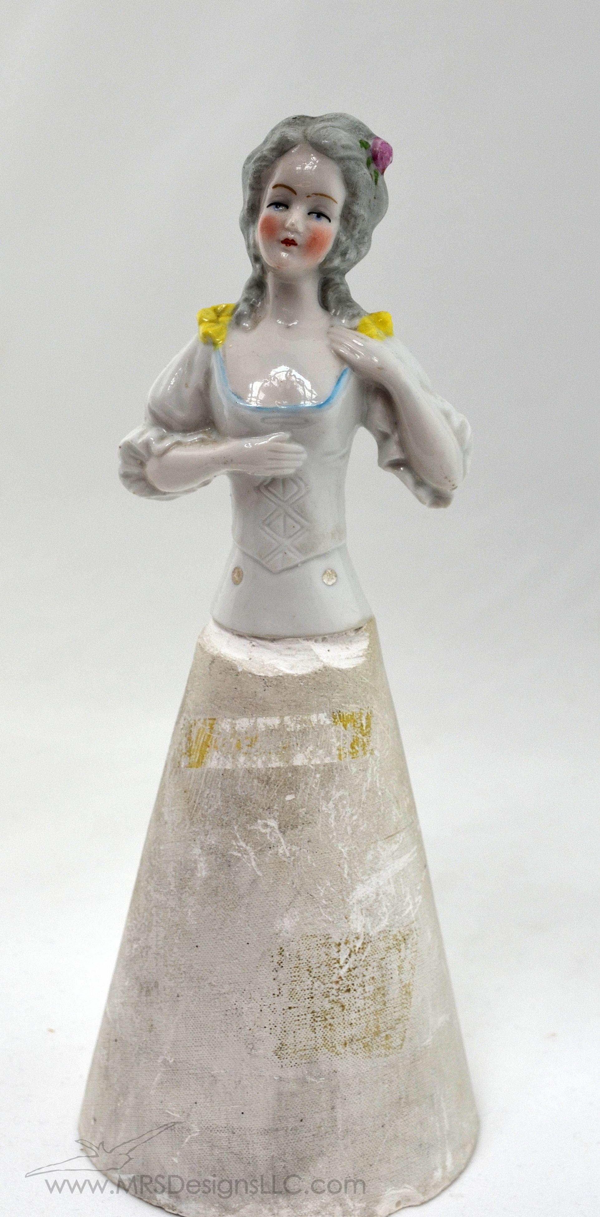 MRS Designs Blog - Vintage Half Dolls with Plaster Bottom