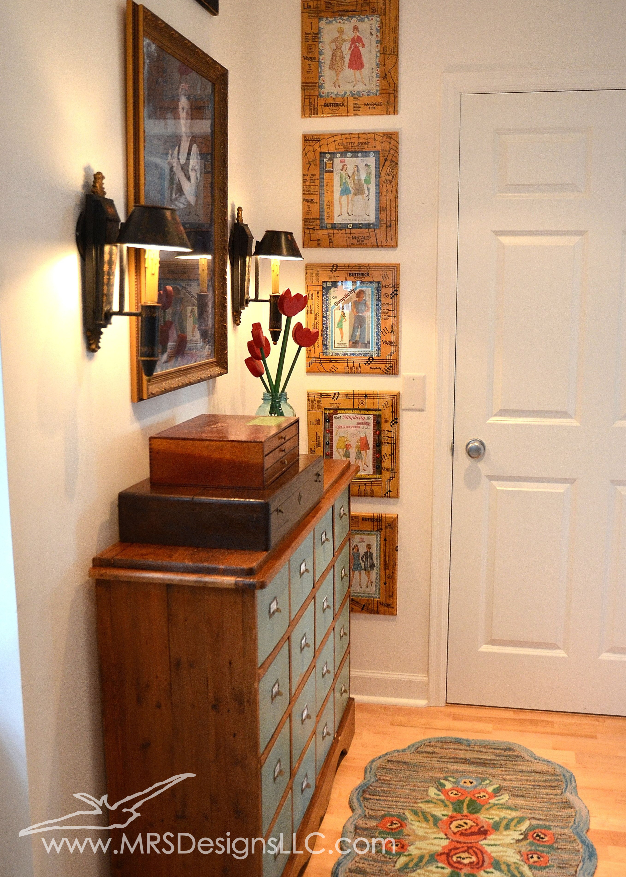 MRS Designs Blog - Refinishing a Vintage Storage Cabinet for Your Craft Room