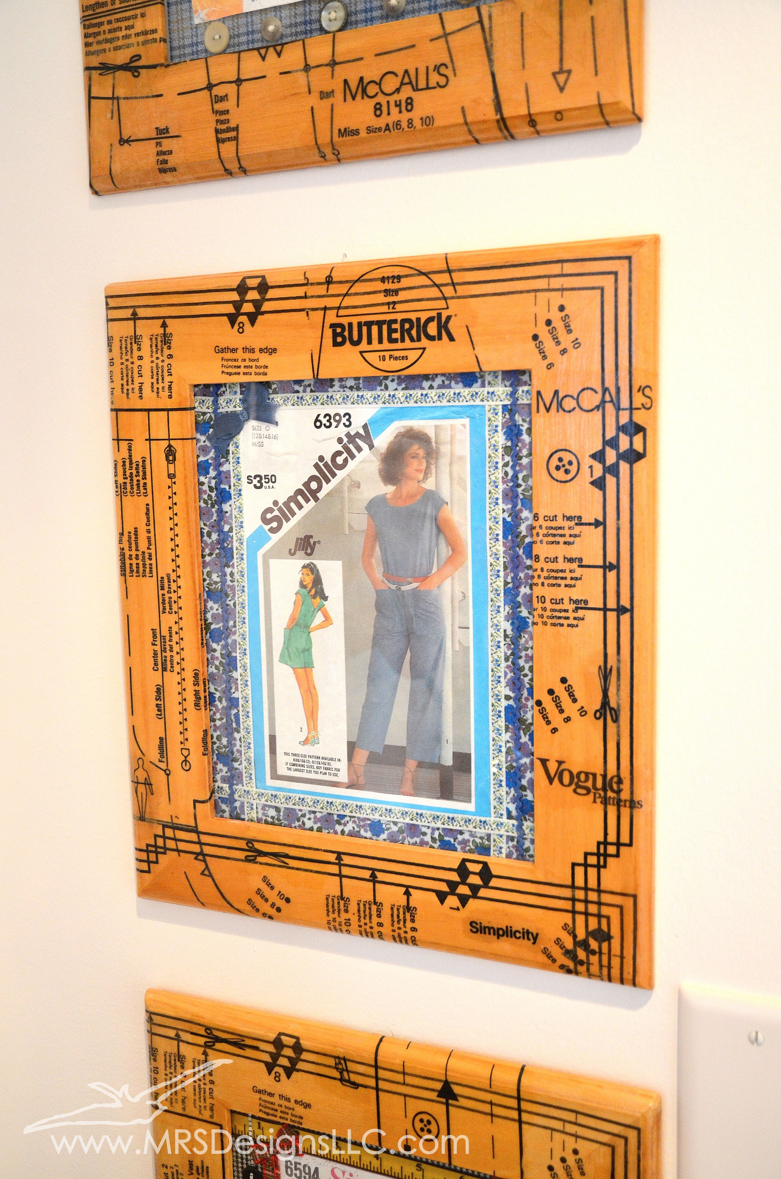 MRS Designs Blog - Decoupage unfinished frames with sewing patterns for a fun crafty look!.jpg