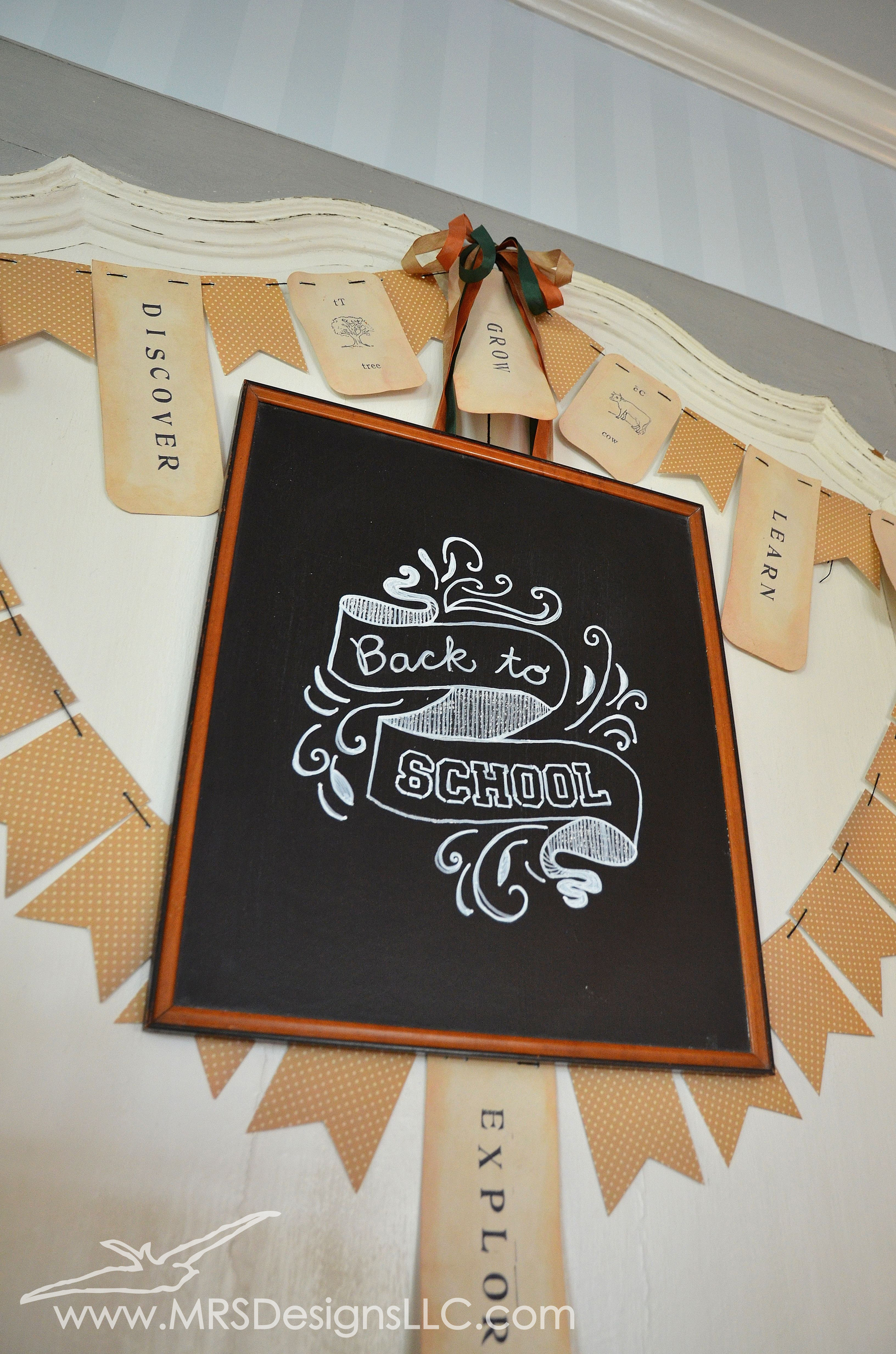 MRS Designs Blog - Back To School Chalkboard Art and Bunting Banner