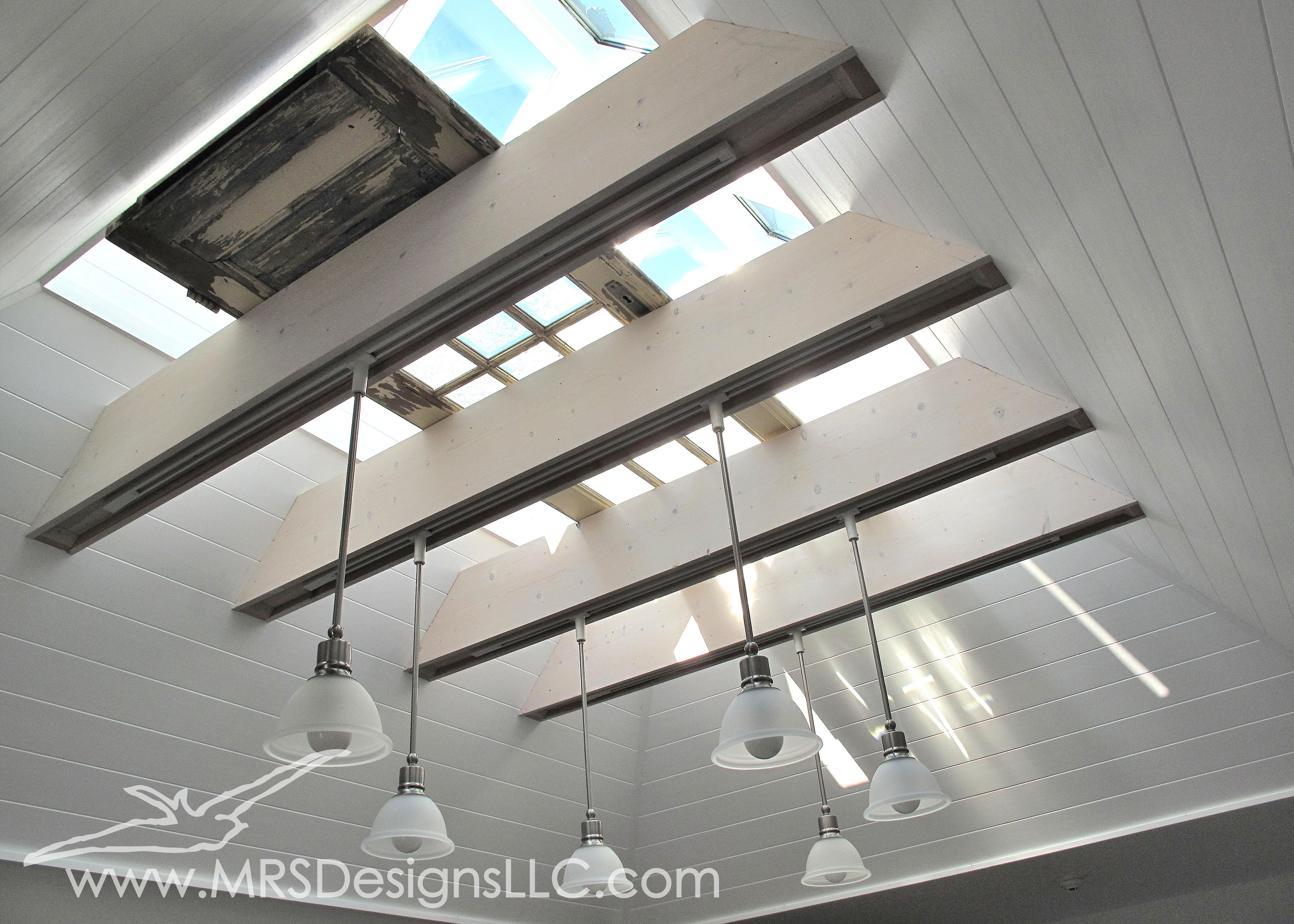 MRS Designs Blog - Using a Vintage Door within a Skylight