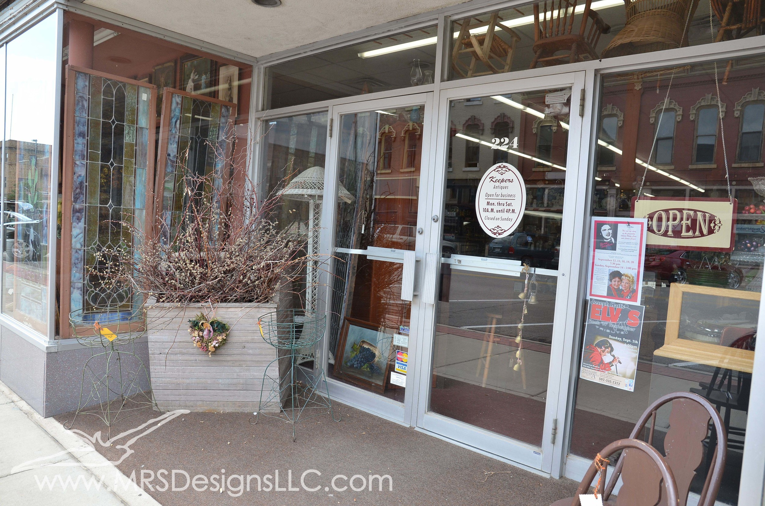 MRS Designs Blog - Keepers Antique Store in Faribault, MN