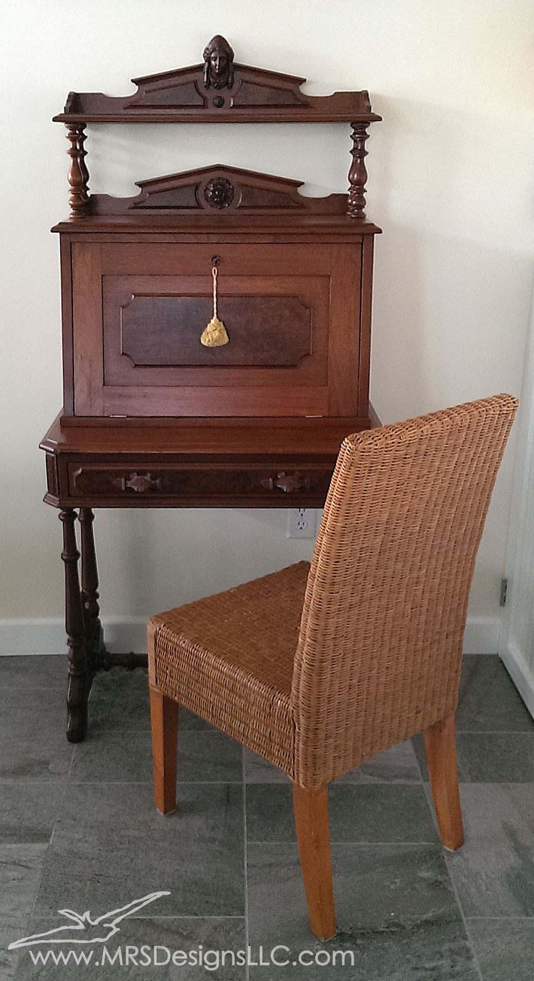 MRS Designs Blog - Refinishing a Vintage Secretary Desk