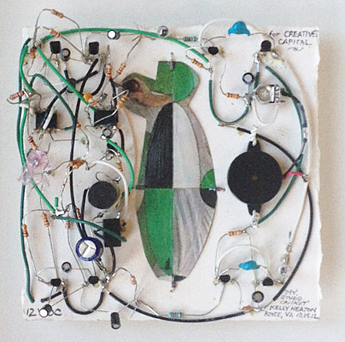 My Studio Cricket   (2012) electronics, guache and collage on paper private collection