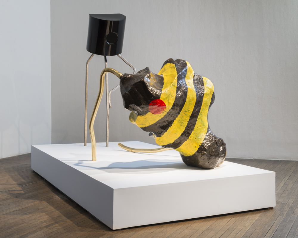 Colony Collapse Disorder    (2015)  steel, brass, expanded polystyrene foam, polyurethane, oil-based paint, painted wood platform
