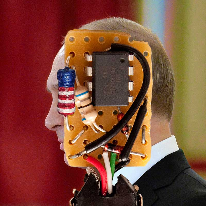 Putin (the operational amplifier), 2017. Digital image for print (edition to be determined)