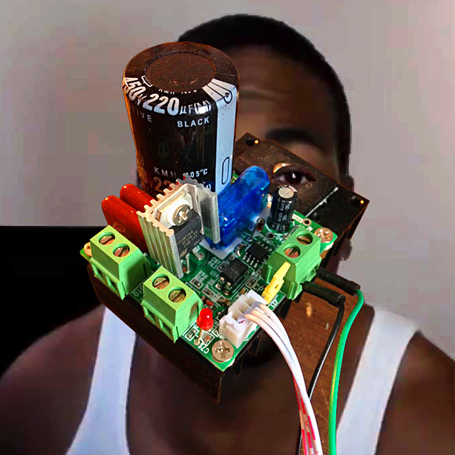 Black Power Capacitor, 2017. Digital sketch (photo collage)