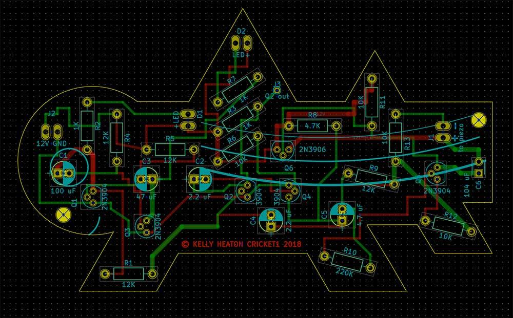 Board layout in KiCad