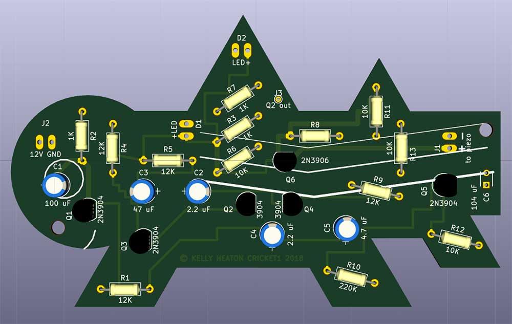 KiCad 3d simulation of the pcb