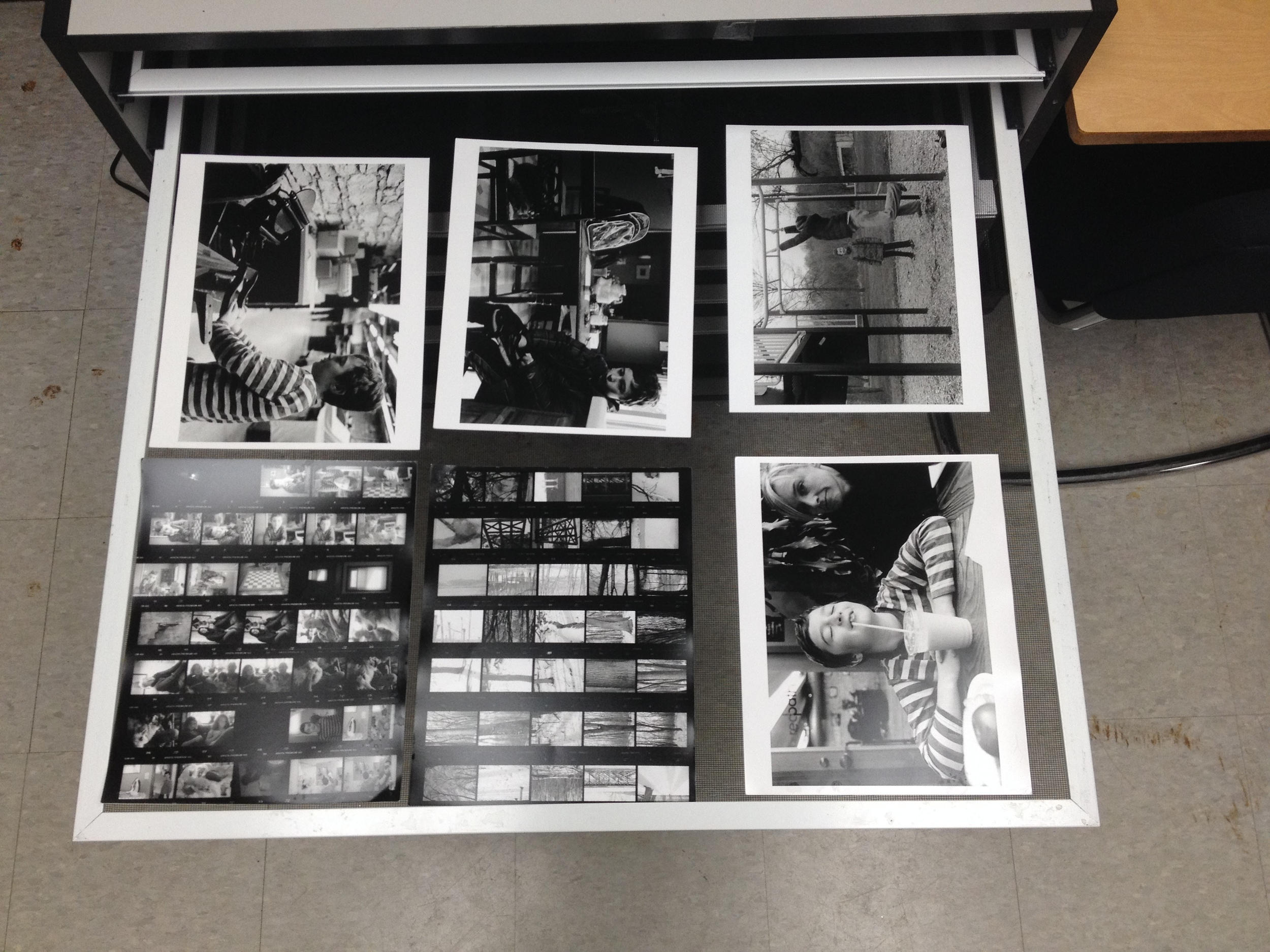 A hour and a half of work prints and contact sheets.