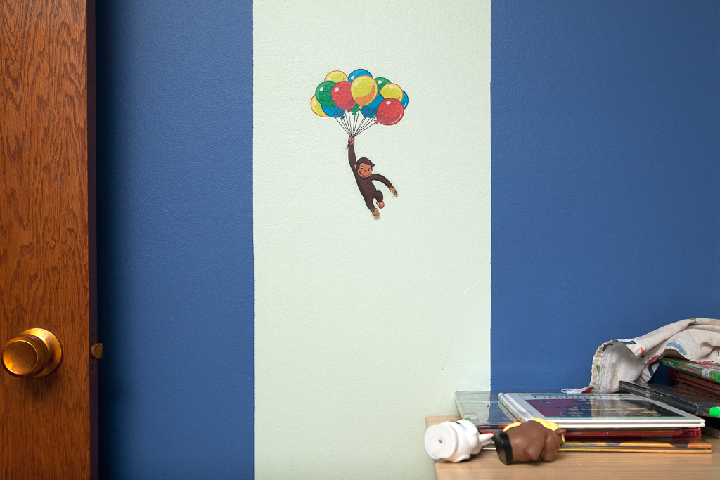 "George, with balloons. Archival Inkjet Print. 17"" x 22"". 2010."