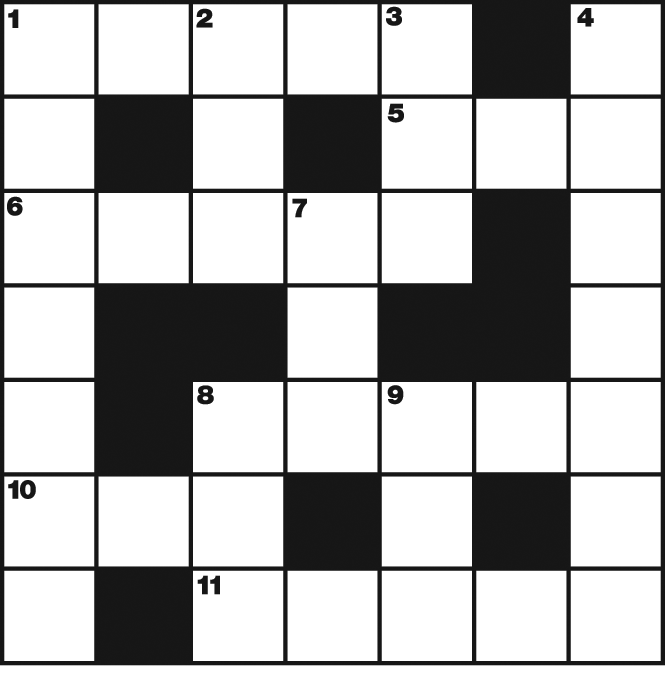 Mini Cryptic Crossword by Guy Campbell.  Available weekly
