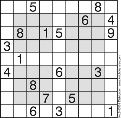 picture about Monster Sudoku Printable named 005_Sudoku Style and design Puzzles Knight Functions Product Really worth