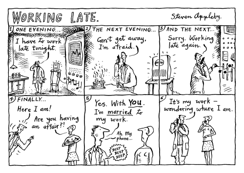 Working Late by Steven Appleby | Distributed by Knight Features
