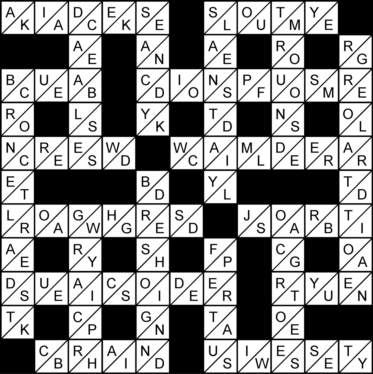 Work out which letter to delete from each square to make a word and complete the puzzle.  Available daily.  ©The Puzzle Company. Dist. Knight Features. All Rights Reserved.