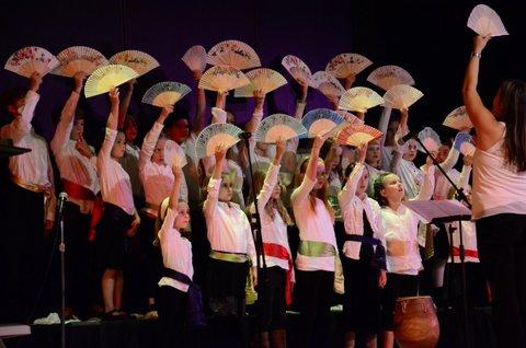 Preparatory Choir performing at the Arts Center Gala, 2013