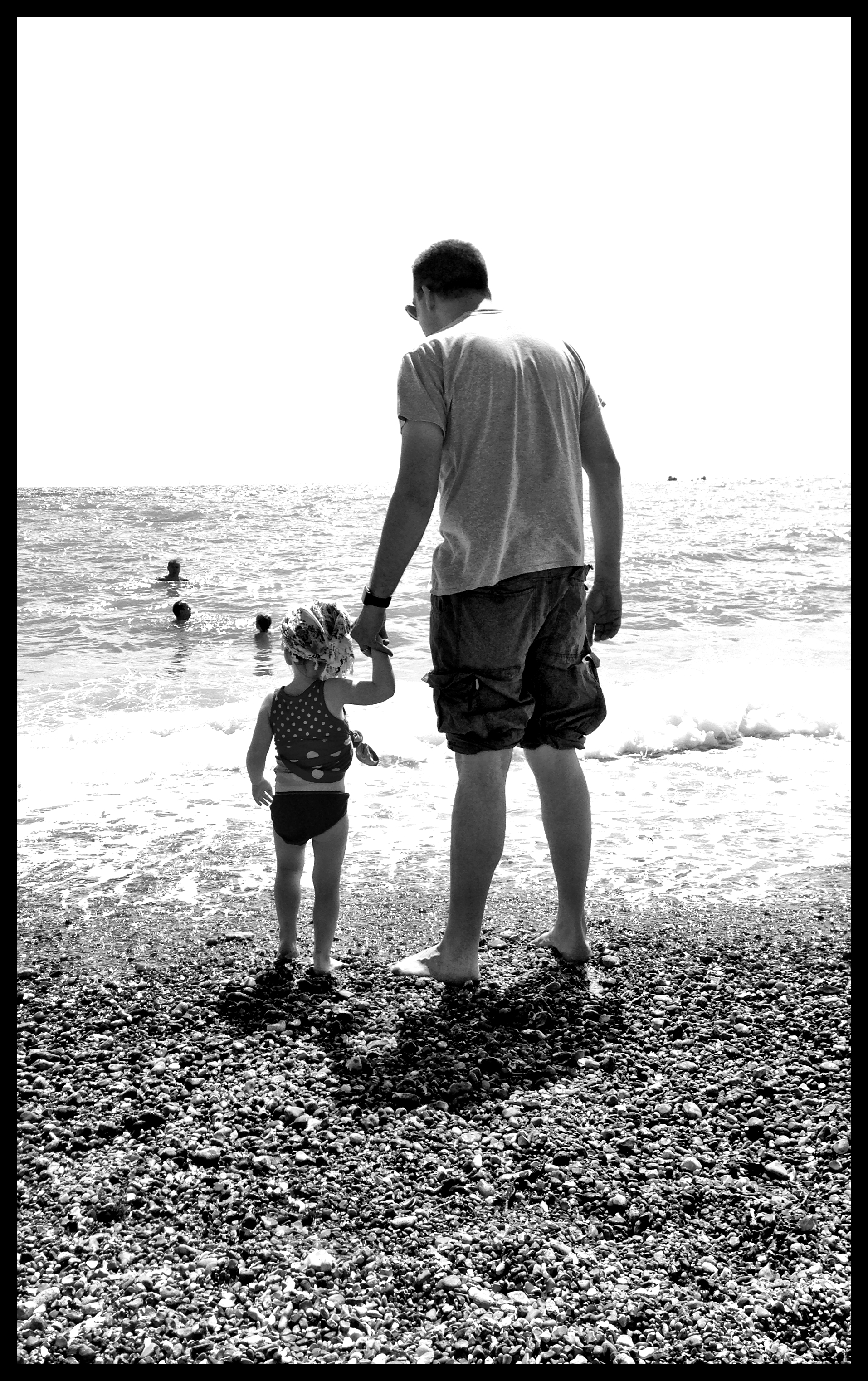 Brighton beach with my daughter.