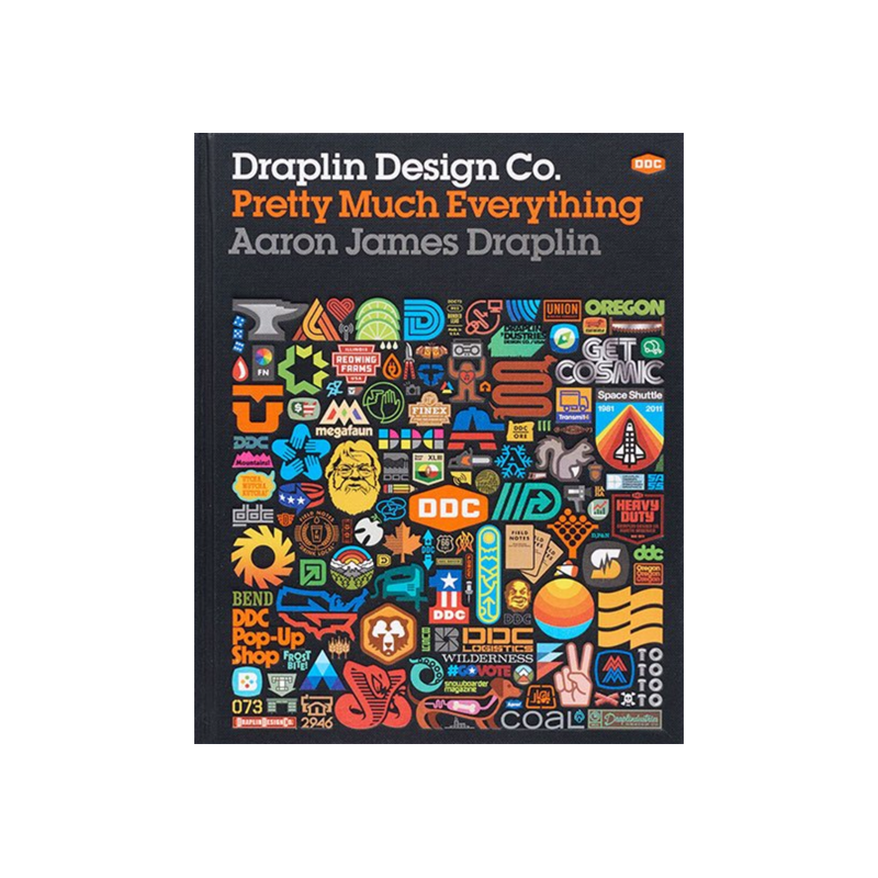 """Draplin Design Co.: Pretty Much Everything  The following is placeholder text known as """"lorem ipsum,"""" which is scrambled Latin used by designers to mimic real copy. Donec ac fringilla turpis. Donec ac fringilla turpis."""