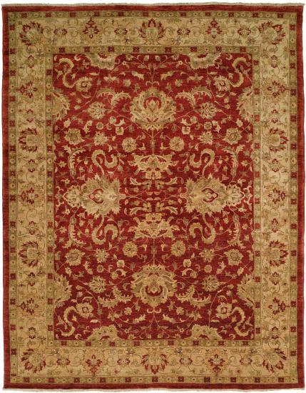 ANGORA  Crimson/Ivory Hand Knotted   Wool Pile / Cotton Foundation   2x3,3x5,4x6, 6x9, 8x10, 9x12, 10x14, 11x16, 12x15, 12x18, 2'6x8, 2'6x10, 2'6x12