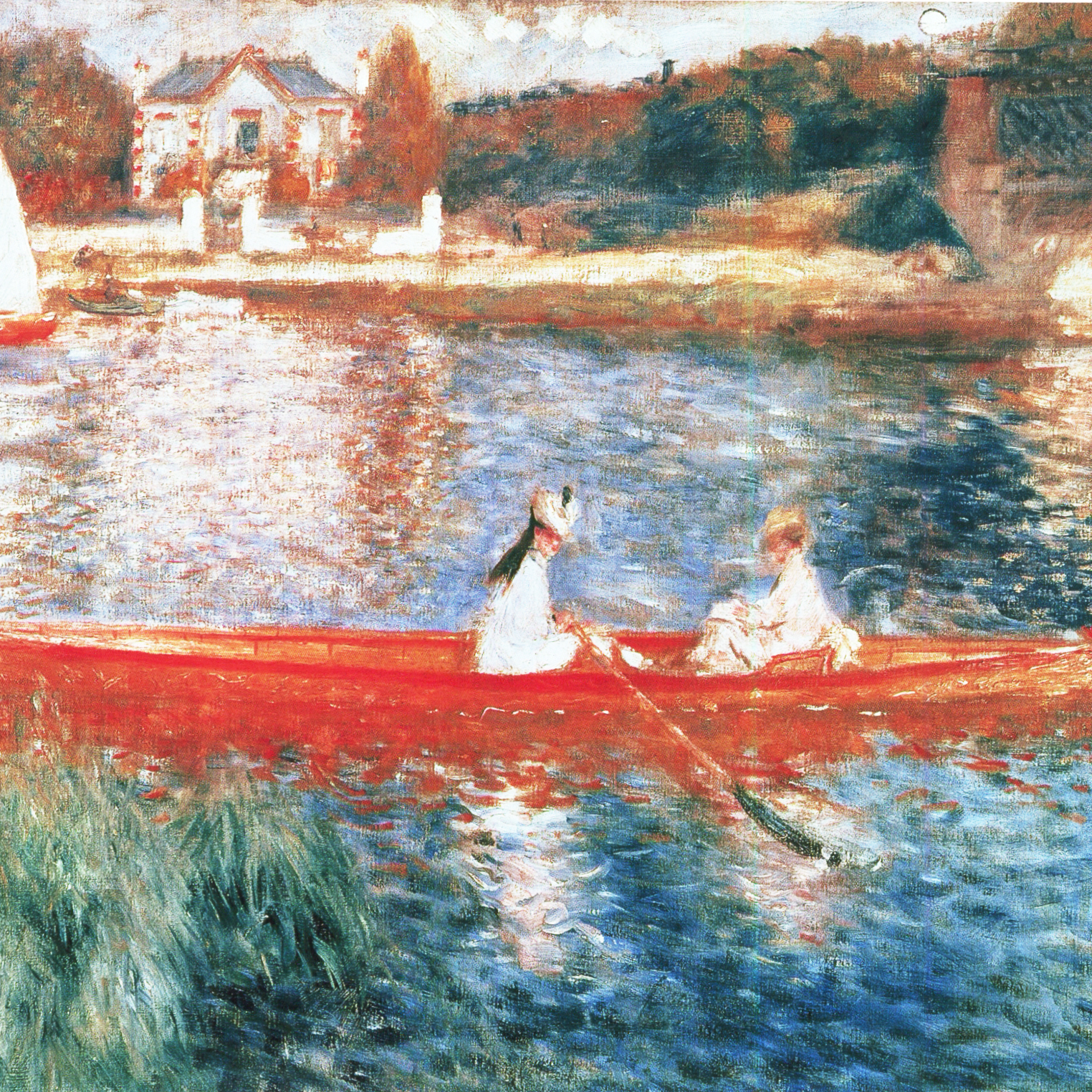 PALETTE INSPIRATION The Seine at Asnieres, Pierre Auguste Renoir