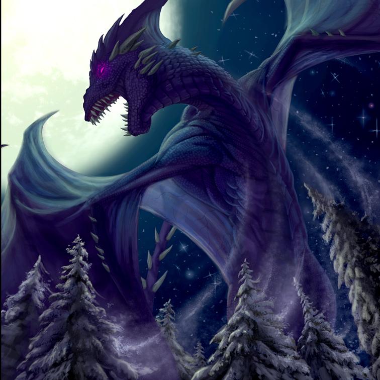 Digital  For Llewellyn's 2018 Dragon Calendar.
