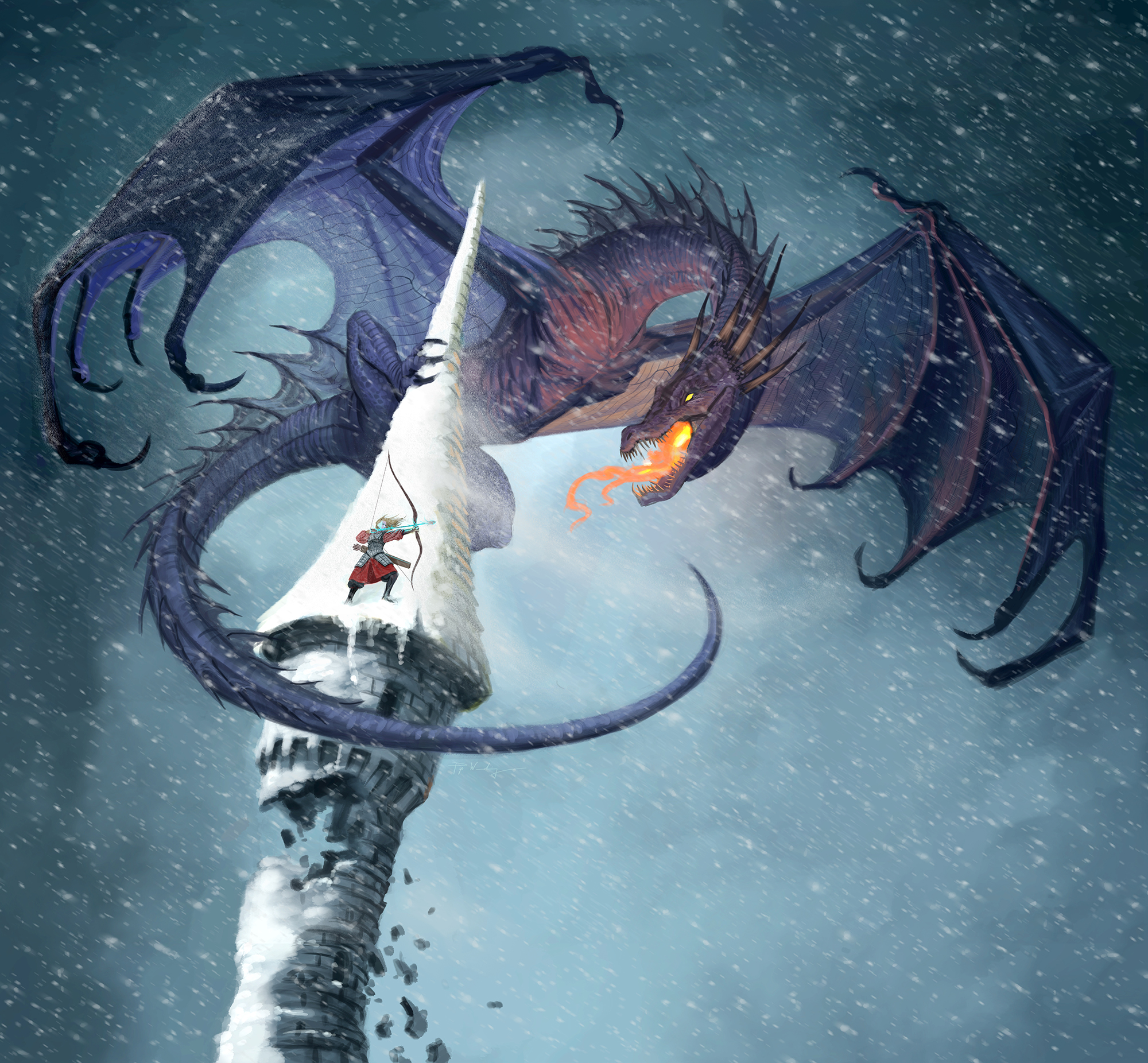 Digital  For Llewellyn's 2020 Dragon Calendar.