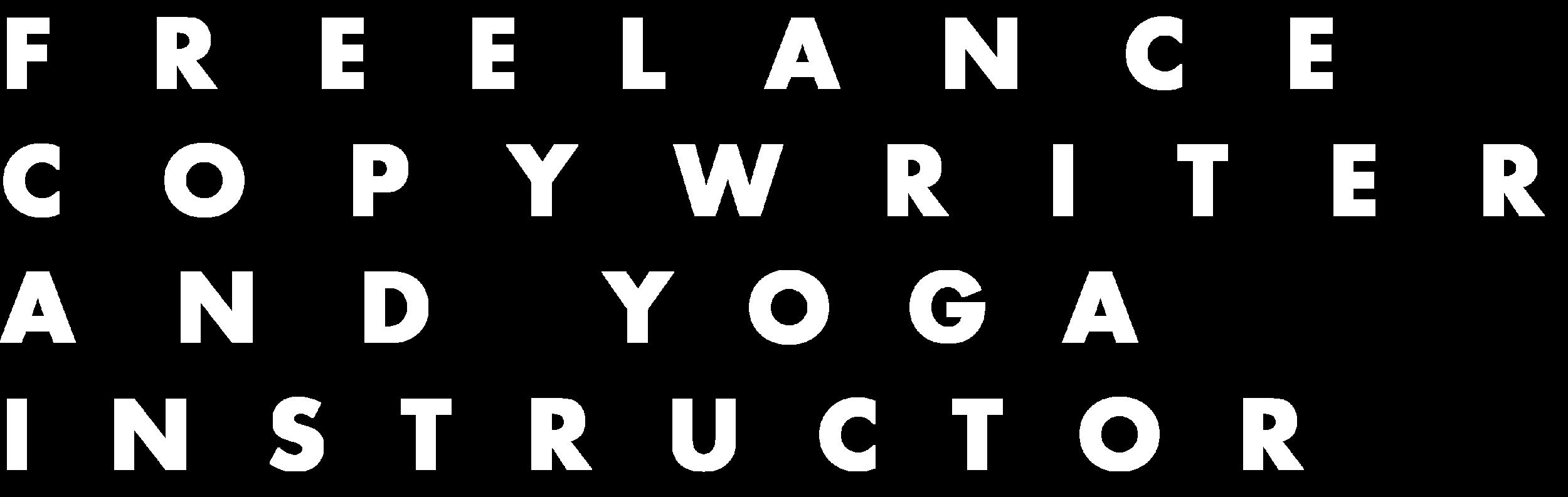 Dinah von Schoenberg Creative Copywriter and Yoga Instructor