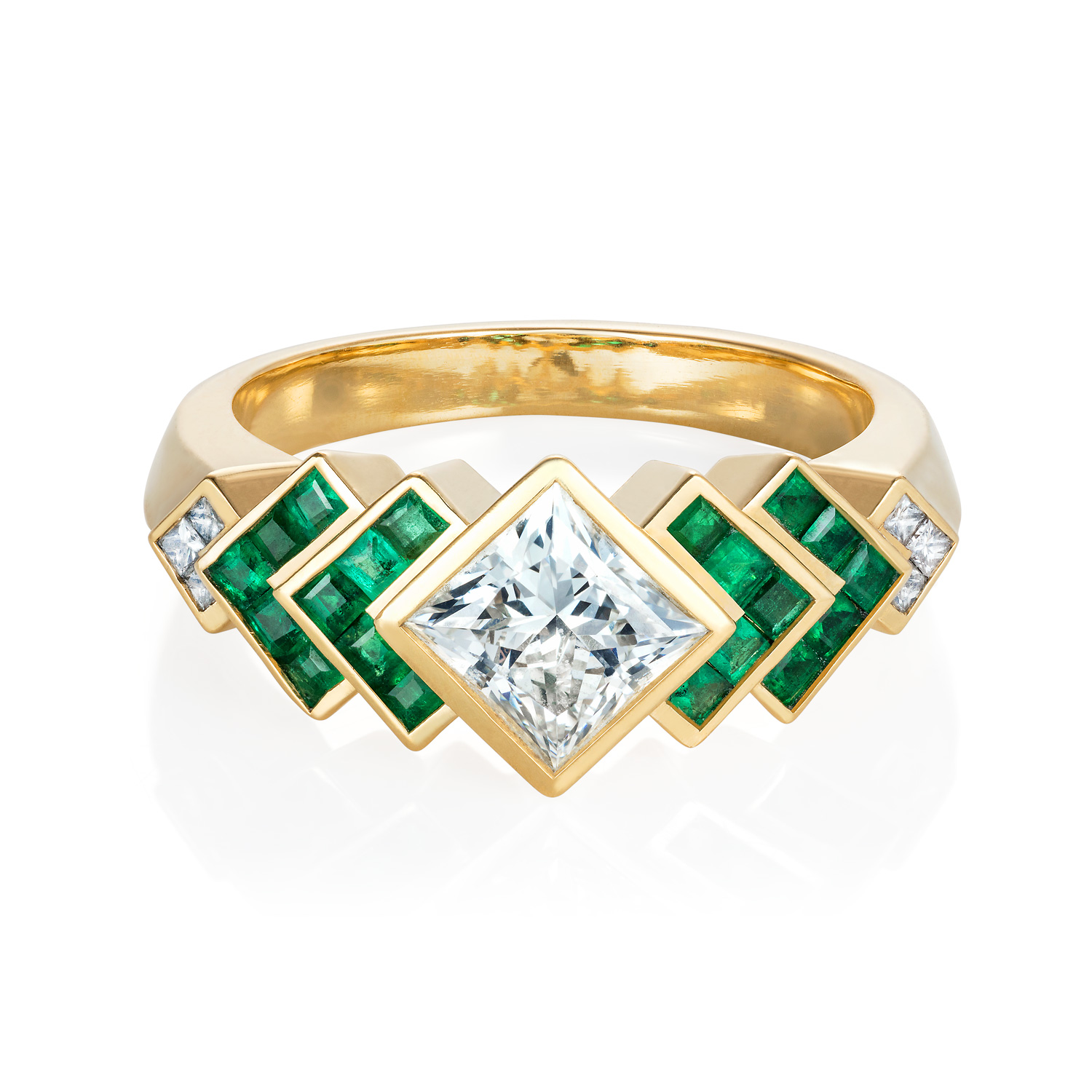 """Spanner & Wingnut """"Chevron"""" engagement Ring 