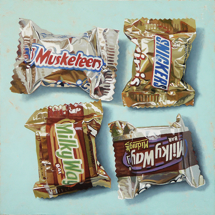 "Sweet Treats  oil on panel    12"" x 12"""