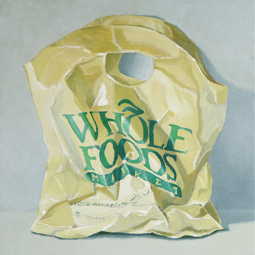 "Whole Foods  oil on canvas  12"" x 12"""