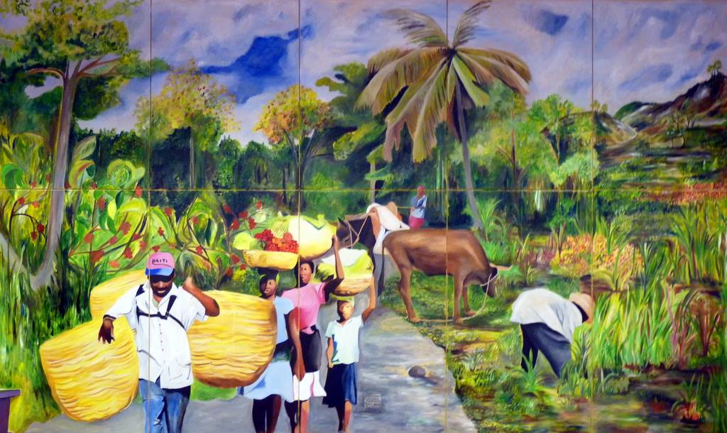 The mural is complete! Now the people that walk through Abiding Hope will also feel as if they are walking into Haiti and that Haiti is walking into Abiding Hope. It will remind us that we are all walking together toward a day when ALL may have life.