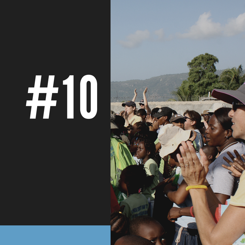 #10 - When the world's attention was attuned to the disaster in Haiti in 2010, the US Peace Corps named HTF as one of five recommended initiatives for persons to donate.