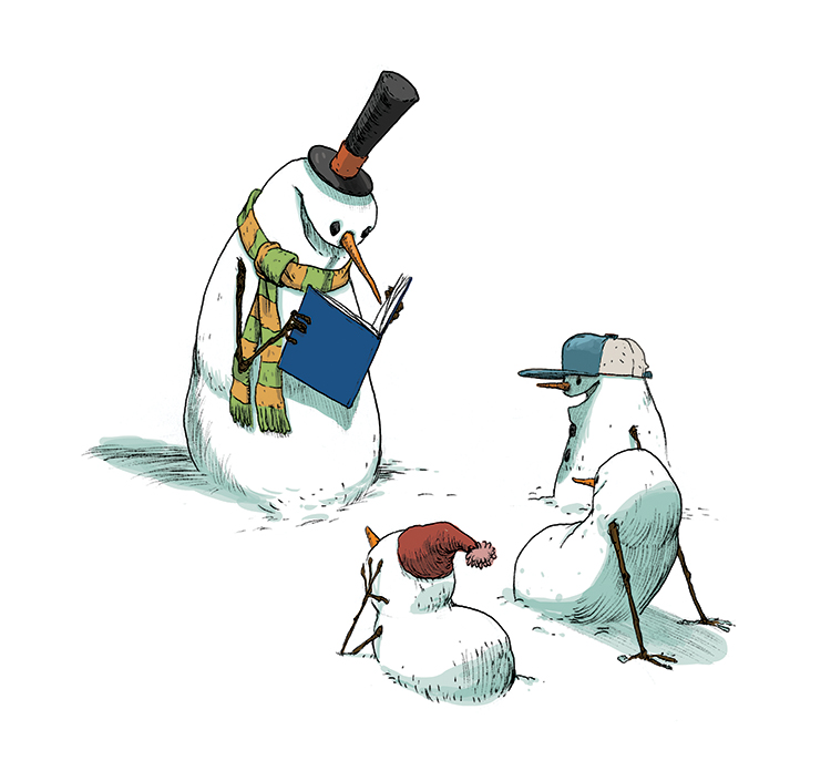 Art copyright Stephen Gilpin from  100 Snowmen