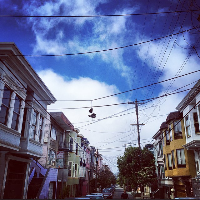 San Francisco : 2015 #sf #sanfrancisco #thebay #travel #document #diversity #home #culture #nemaetebar #sunlight #community #neighborhood #history #america #California #cali #clouds #sunday #streetphotography #iphone #igers #sneakers #shoes