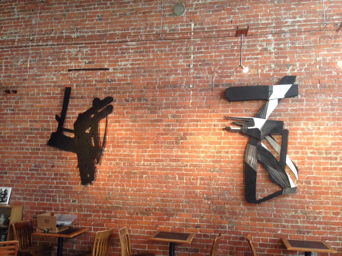 Love showing my work at Zeitgeist in Pioneer Square.171 S Jackson St, Seattle, WA WA 98101. Best brick walls in town.