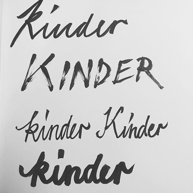 """Kinder"" in German means Children- so ""kinder Kinder"" means kinder children-  isn't that lovely?!? #genglish #handwriting #handlettering"