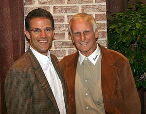 """George Stark, MD/DC Utilities Association President, with Bill """"Coach"""" Yoast of """"Remember the Titans."""""""