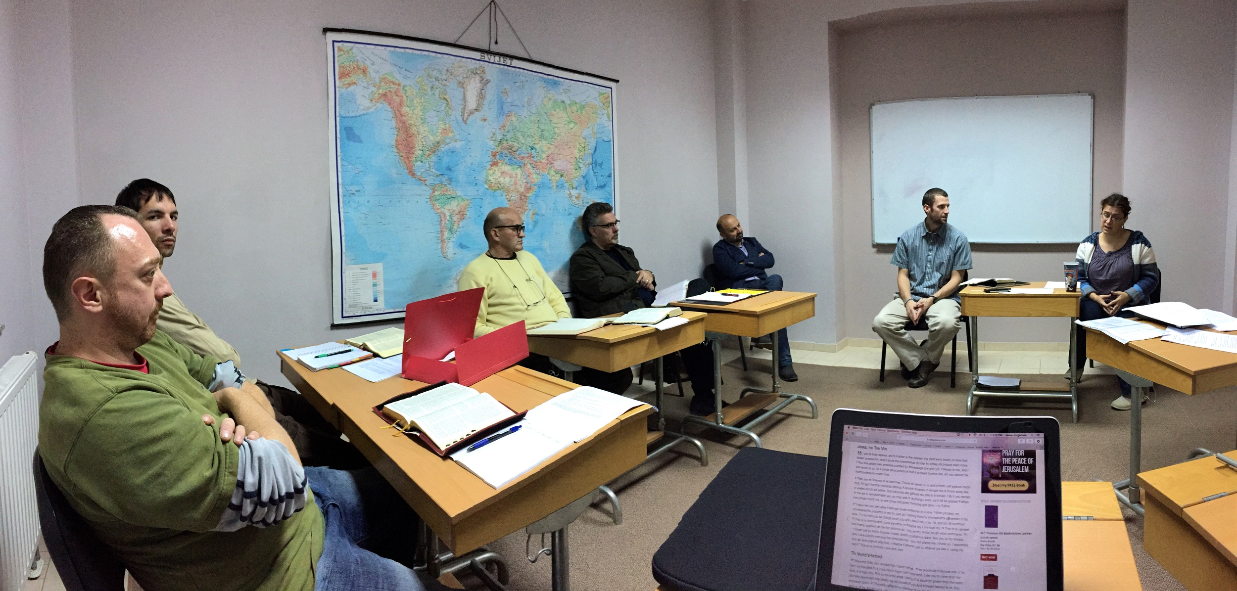 Pastor Nick Teaching at the Bible School in Mostar.