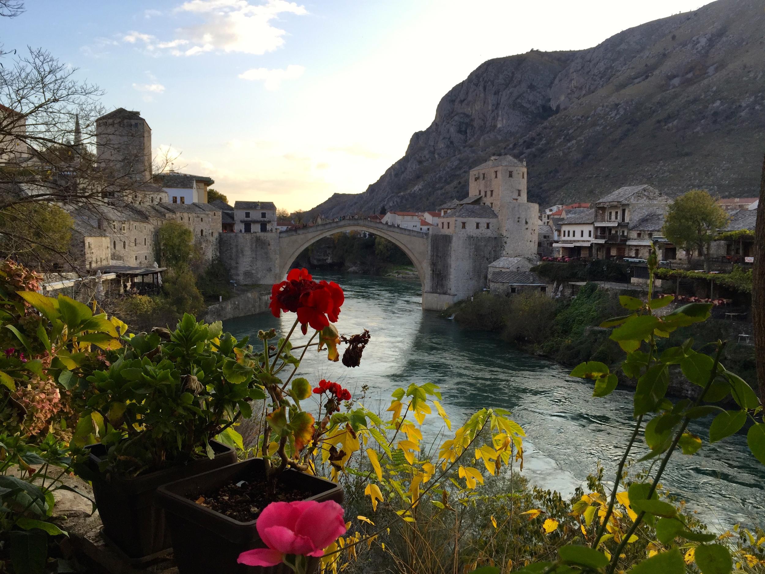 The Stari Most (Old Bridge) at Mostar.