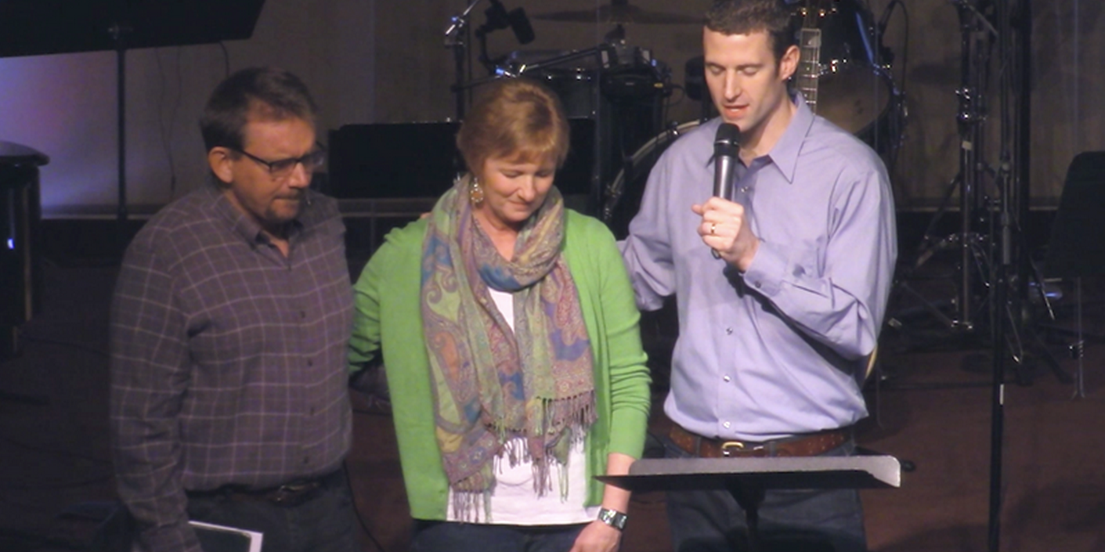 We were able to pray for Mark and Vivian and their ministries.